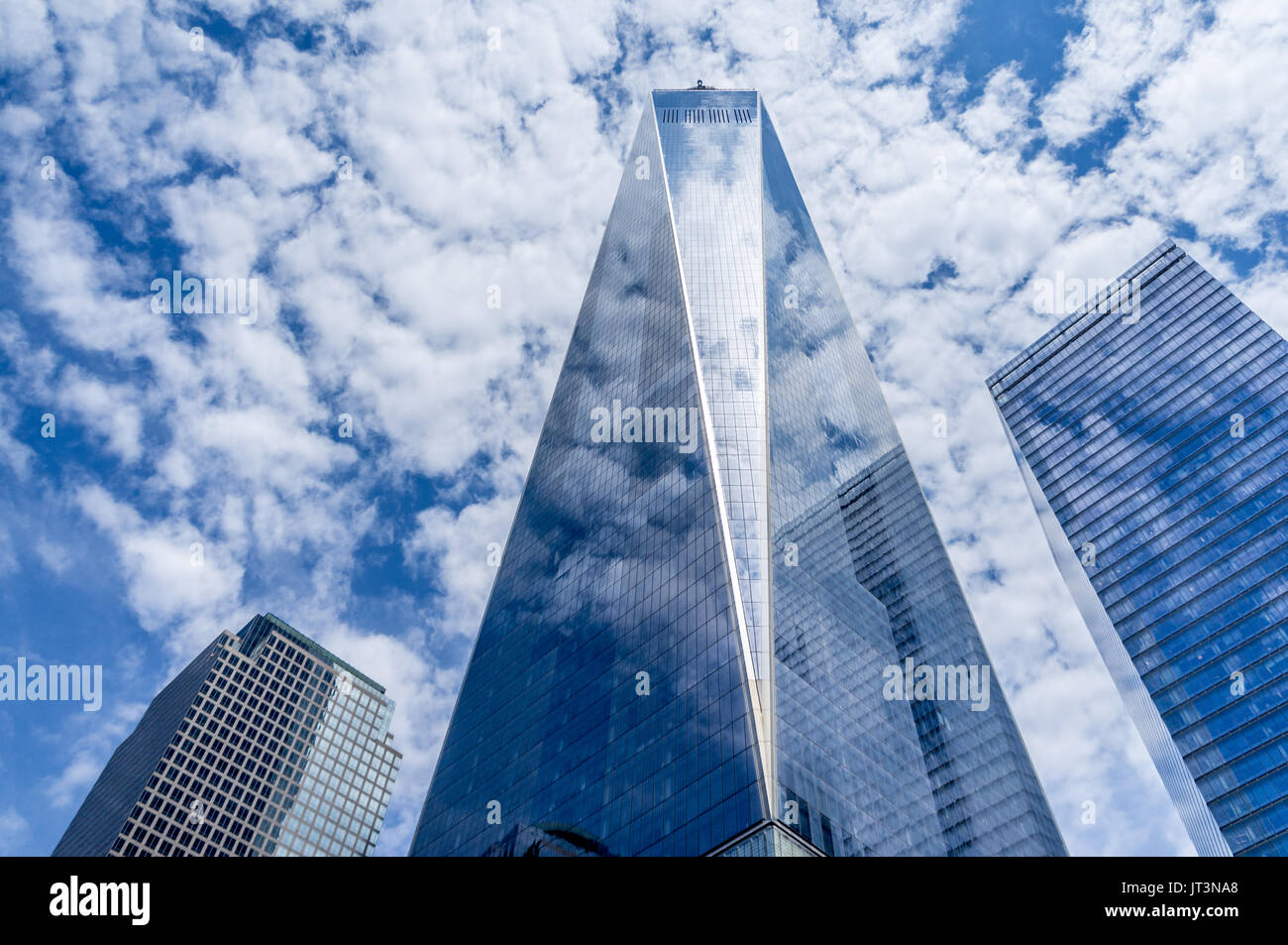 USA, New York, One World Trade Center (Freedom Tower). Located on Manhattan, it's the tallest building in the United States. - Stock Image