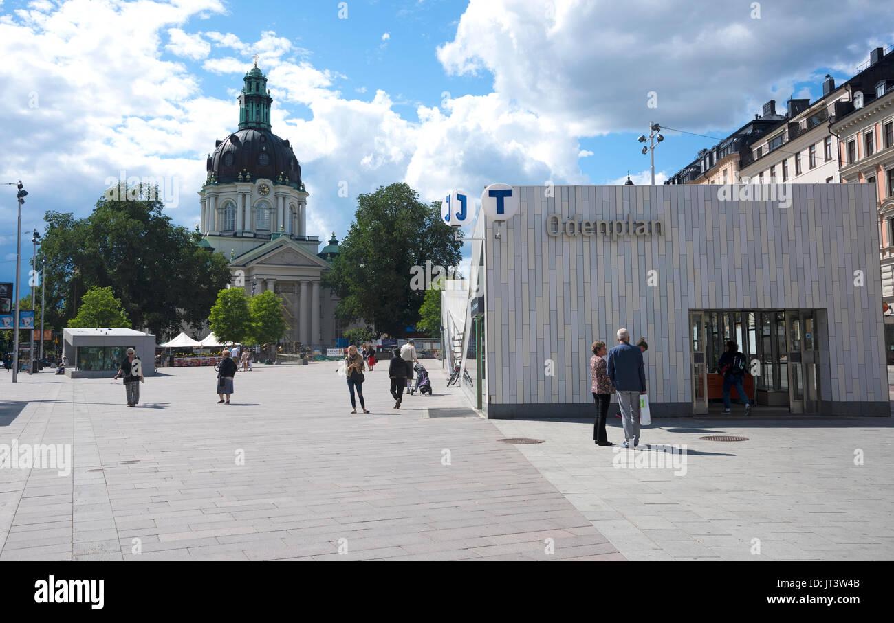 Gustav Vasa Church at Odenplan in Stockholm, Sweden - Stock Image