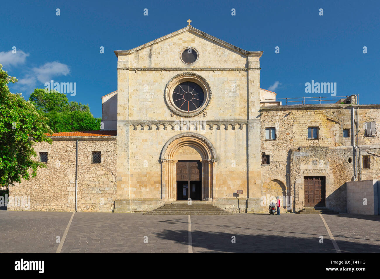 Sassari Sardinia church, the Romanesque west front of the Santa Maria di Betlem church in Sassari, Sardinia. - Stock Image