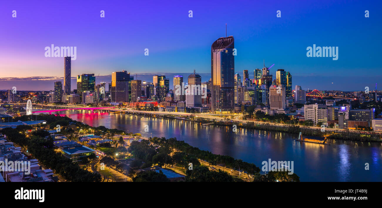 Brisbane CBD skyscrapers - Stock Image