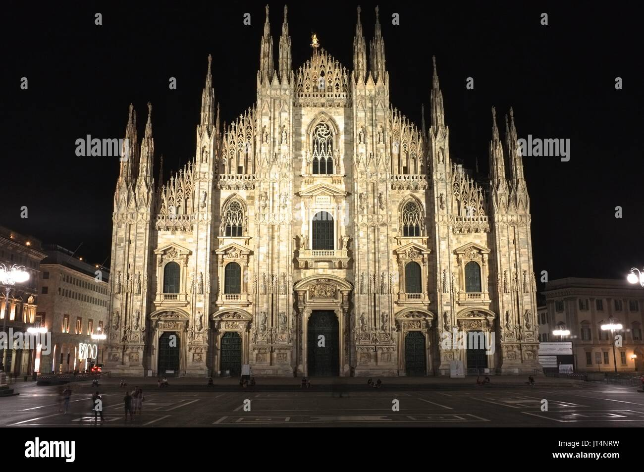 The Duomo (Cathedral), Piazza del Duomo, Milan, Lombardy, Italy, July 2017 Stock Photo