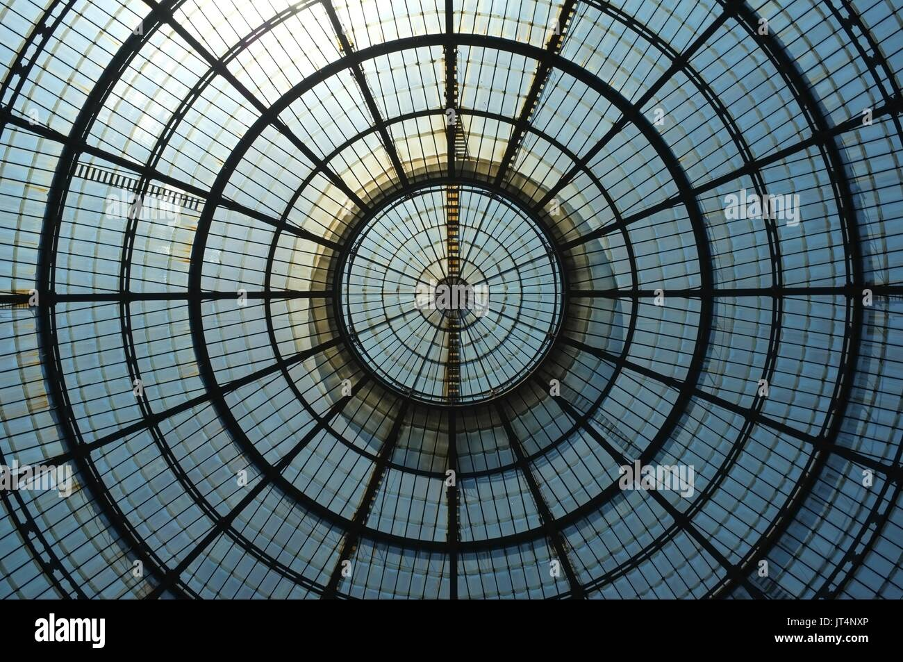 Roof of Galleria Vittorio Emanuele II, Milan, Lombardy, Italy, July 2017 Stock Photo
