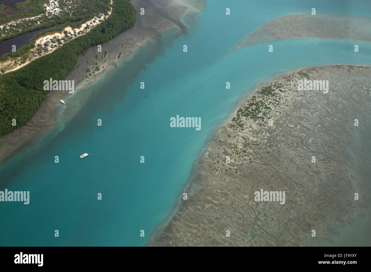 Channel between Horn Island and Thursday Island, Torres Strait - Stock Image