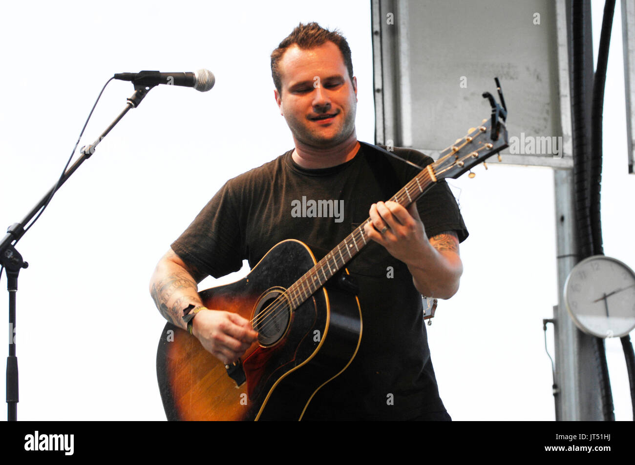 Matt Pryor Terrible Two's performing 2008 Lollapalooza Music Festival Grant Park Chicago. - Stock Image