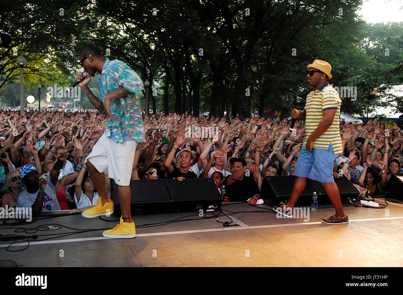 The Cool Kids performing 2008 Lollapalooza Music Festival Grant Park Chicago. - Stock Image