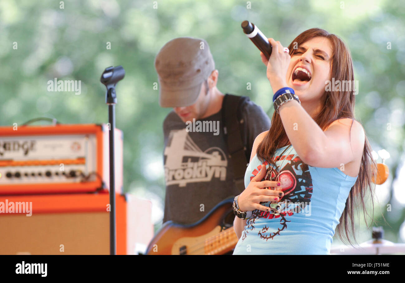 Krista performs 2008 Lollapalooza Music Festival Grant Park Chicago. - Stock Image