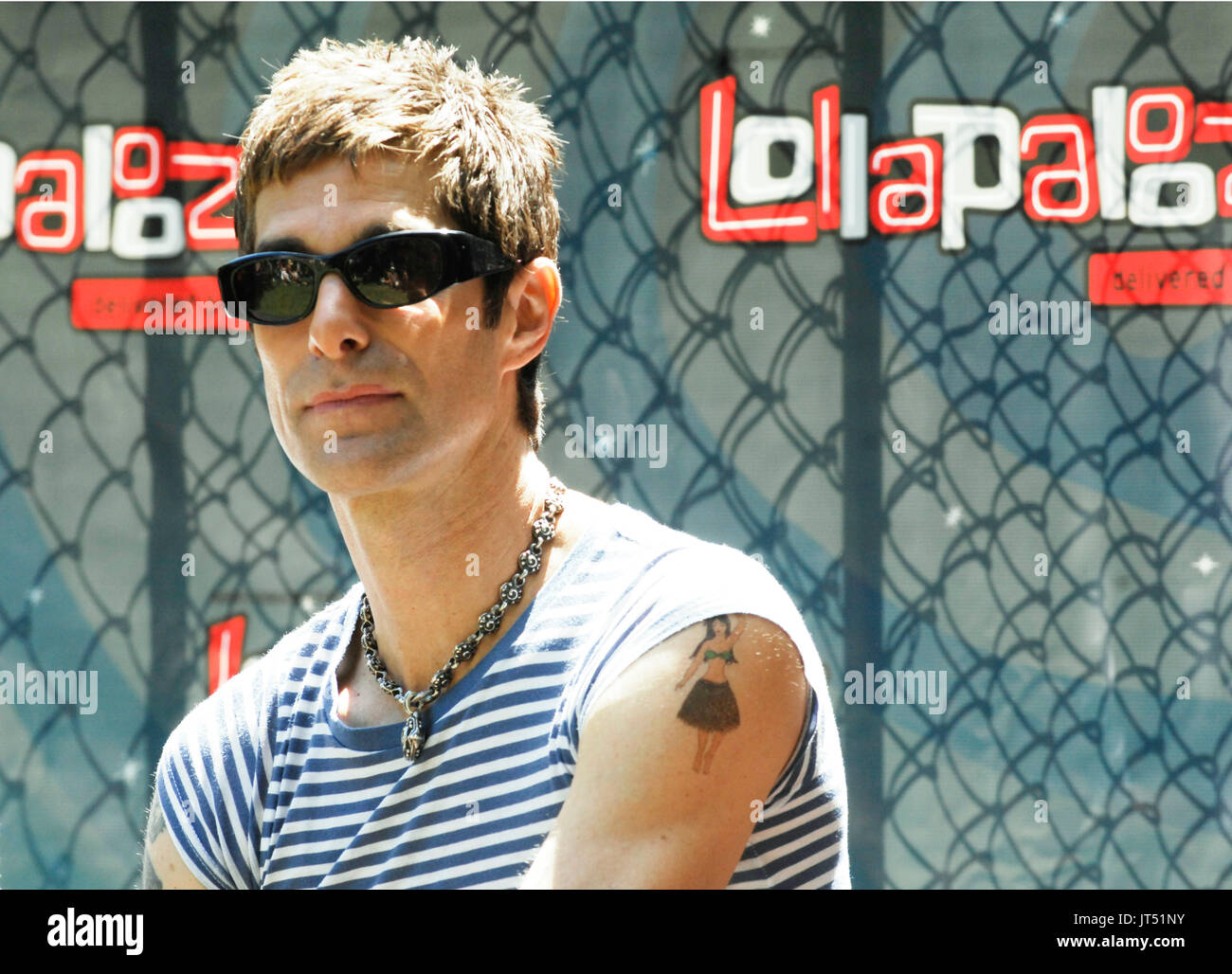 Perry Farrell his press conference 2008 Lollapalooza Music Festival Grant Park Chicago. - Stock Image