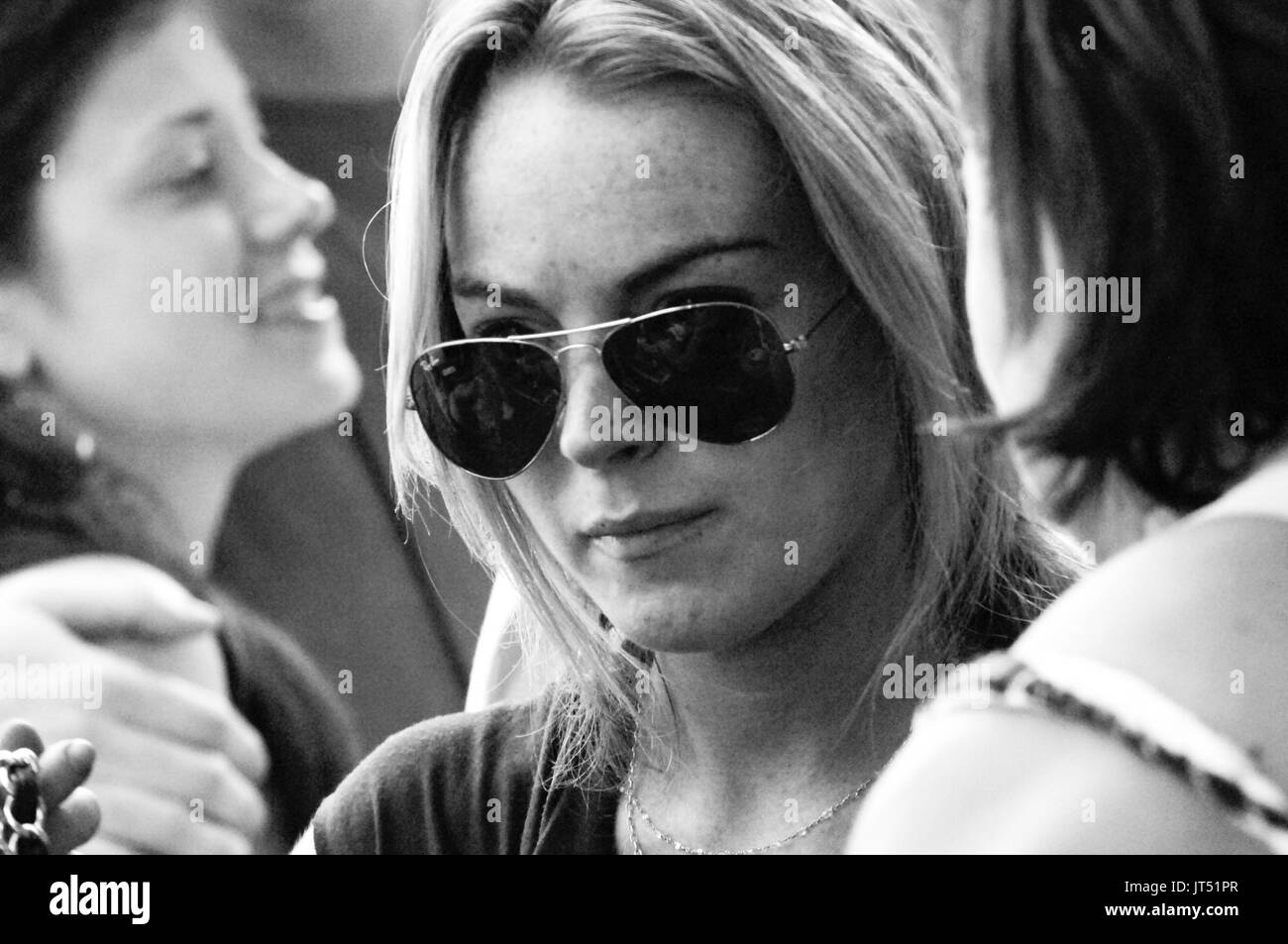 Lindsay Lohan 2008 Lollapalooza Music Festival Grant Park Chicago. - Stock Image