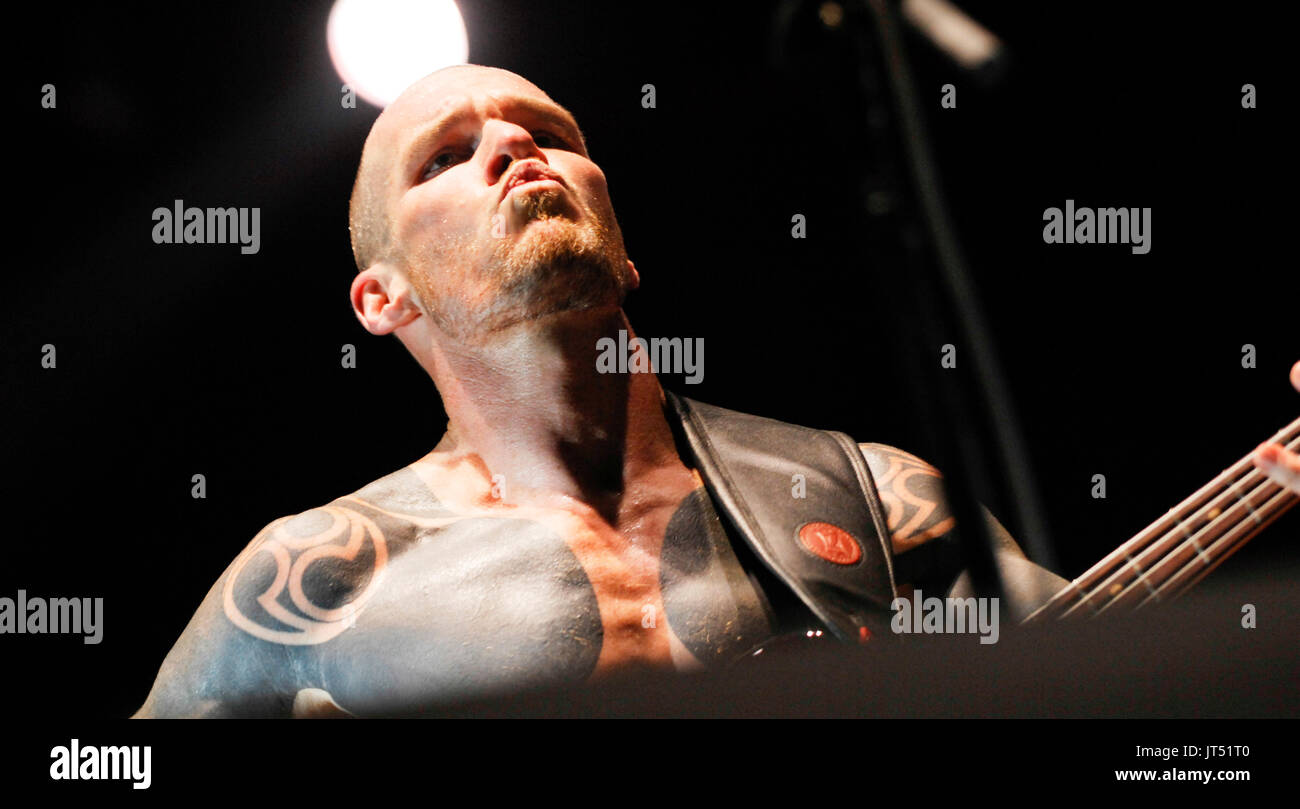 Rage Against Machine performs 2008 Lollapalooza Music Festival Grant Park Chicago. - Stock Image
