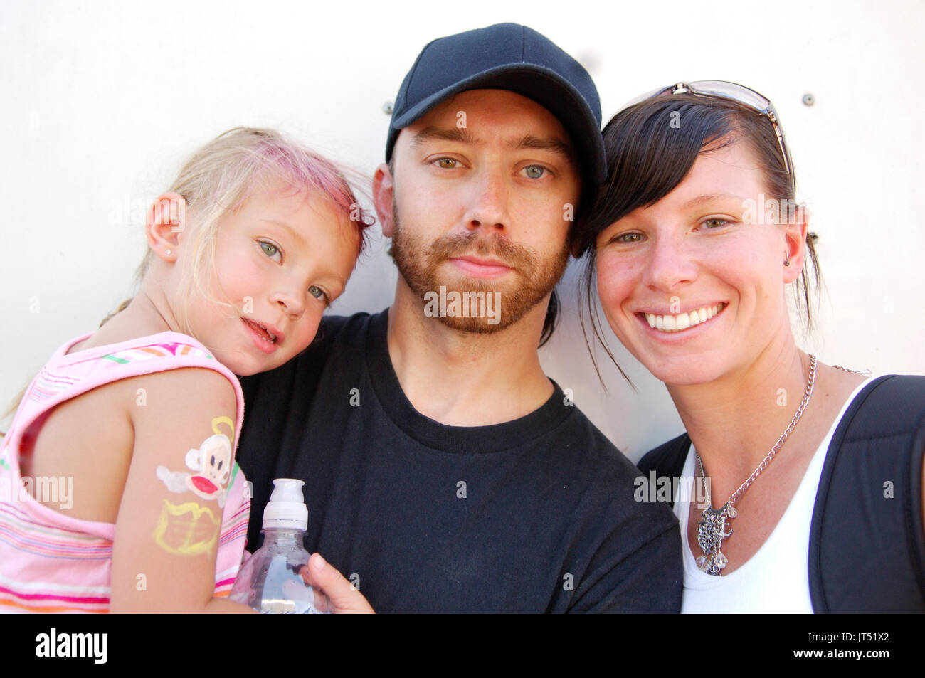 Tim McIlrath Rise Against daughter wife portrait 2007 Lollapalooza Chicago,Il Stock Photo