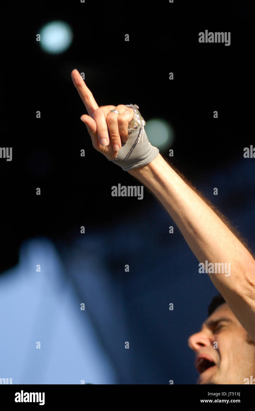 Perry Farrell Satellite Party performs 2007 Lollapalooza Chicago,Il Stock Photo