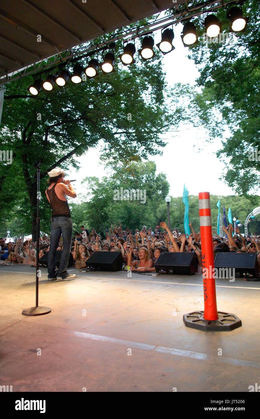 Mickey Avalon performs 2007 Lollapalooza Chicago,Il - Stock Image