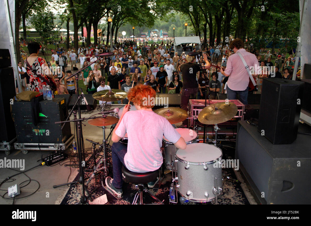 The Diffs perform Lollapalooza 2007 Grant Park Chicago - Stock Image
