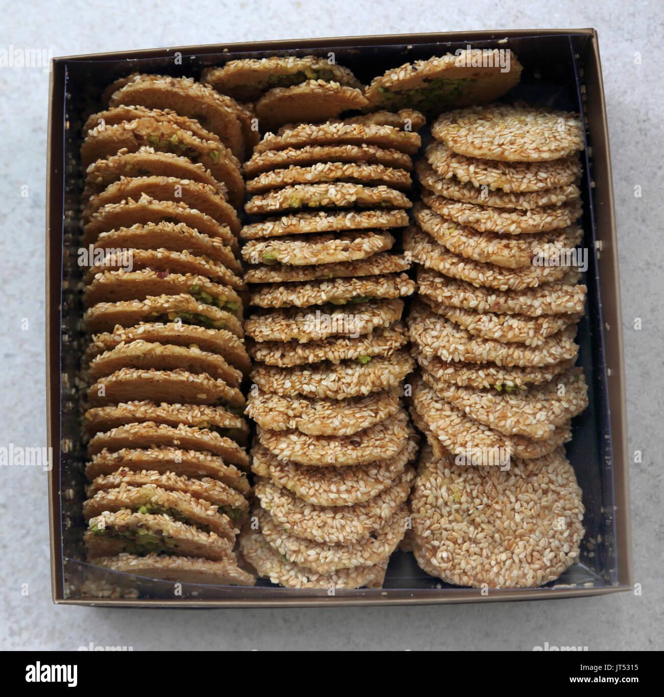 Abu Afif Barazek Iraqi Biscuits - Stock Image