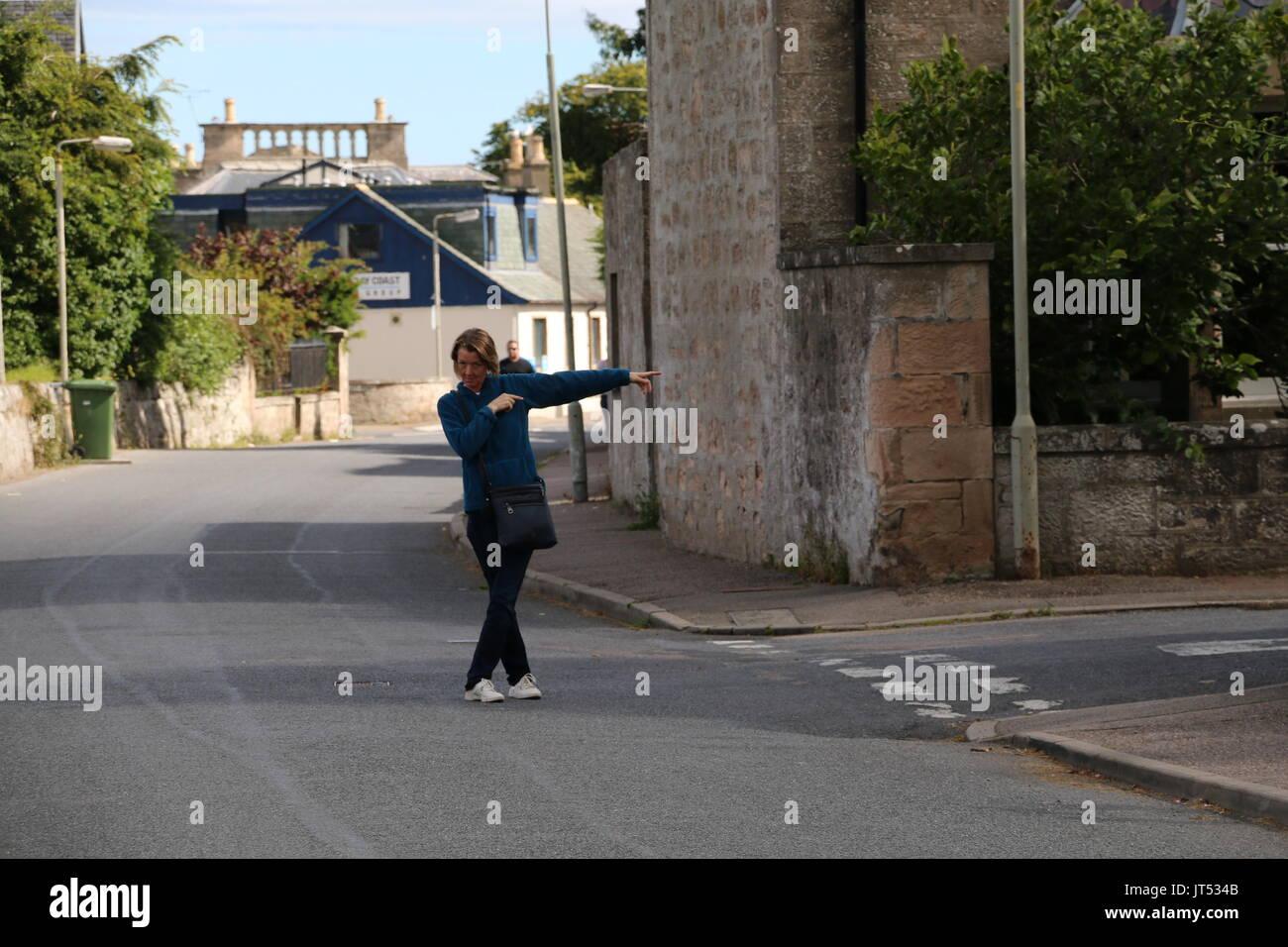 Nairn street, This Way! - Stock Image