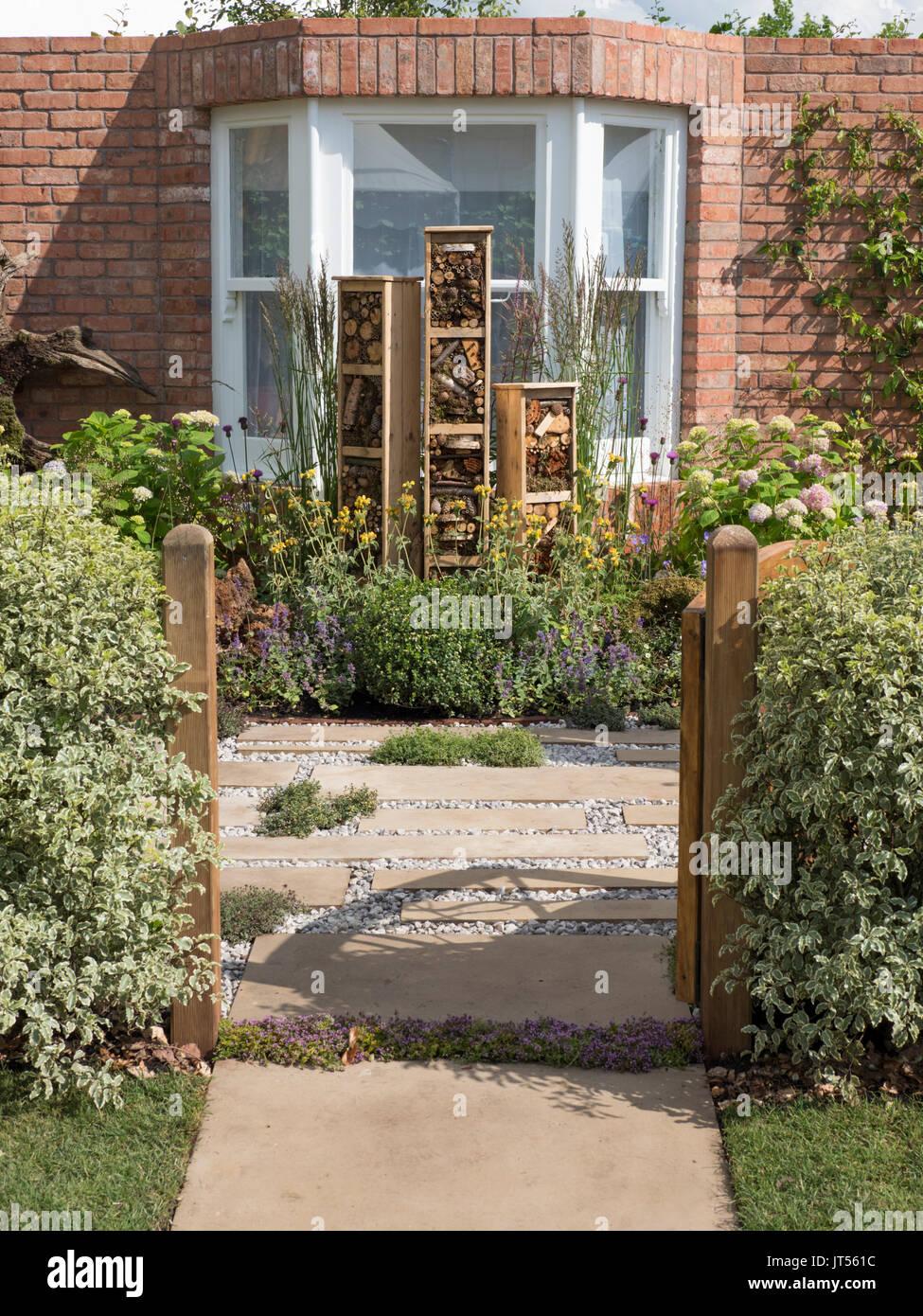 Gardeners world live Artemis Landscapes 'Living in Sync' Garden. - Stock Image