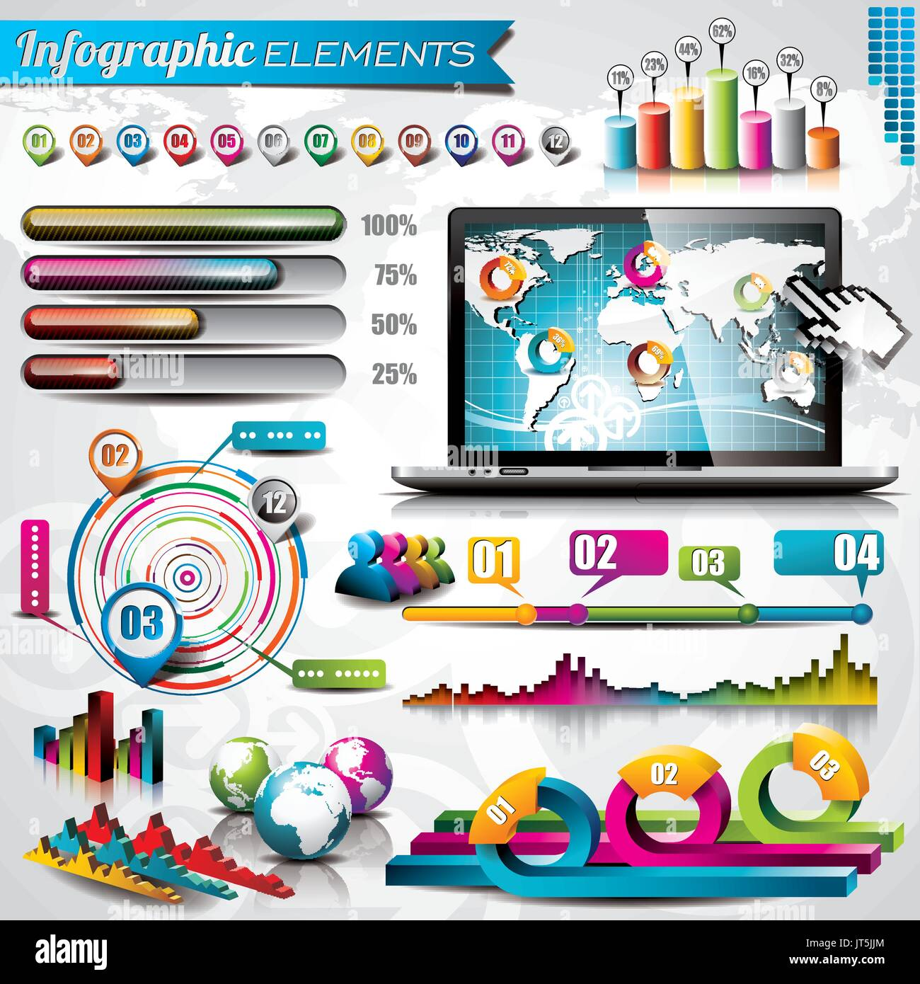 Vector design set of infographic elements world map and information vector design set of infographic elements world map and information graphics gumiabroncs Gallery