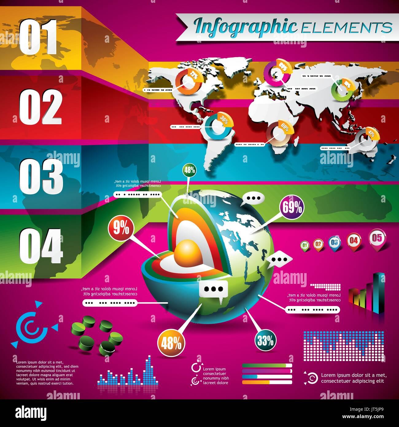Vector design set of infographic elements world map and information vector design set of infographic elements world map and information graphics eps 10 illustration gumiabroncs Gallery