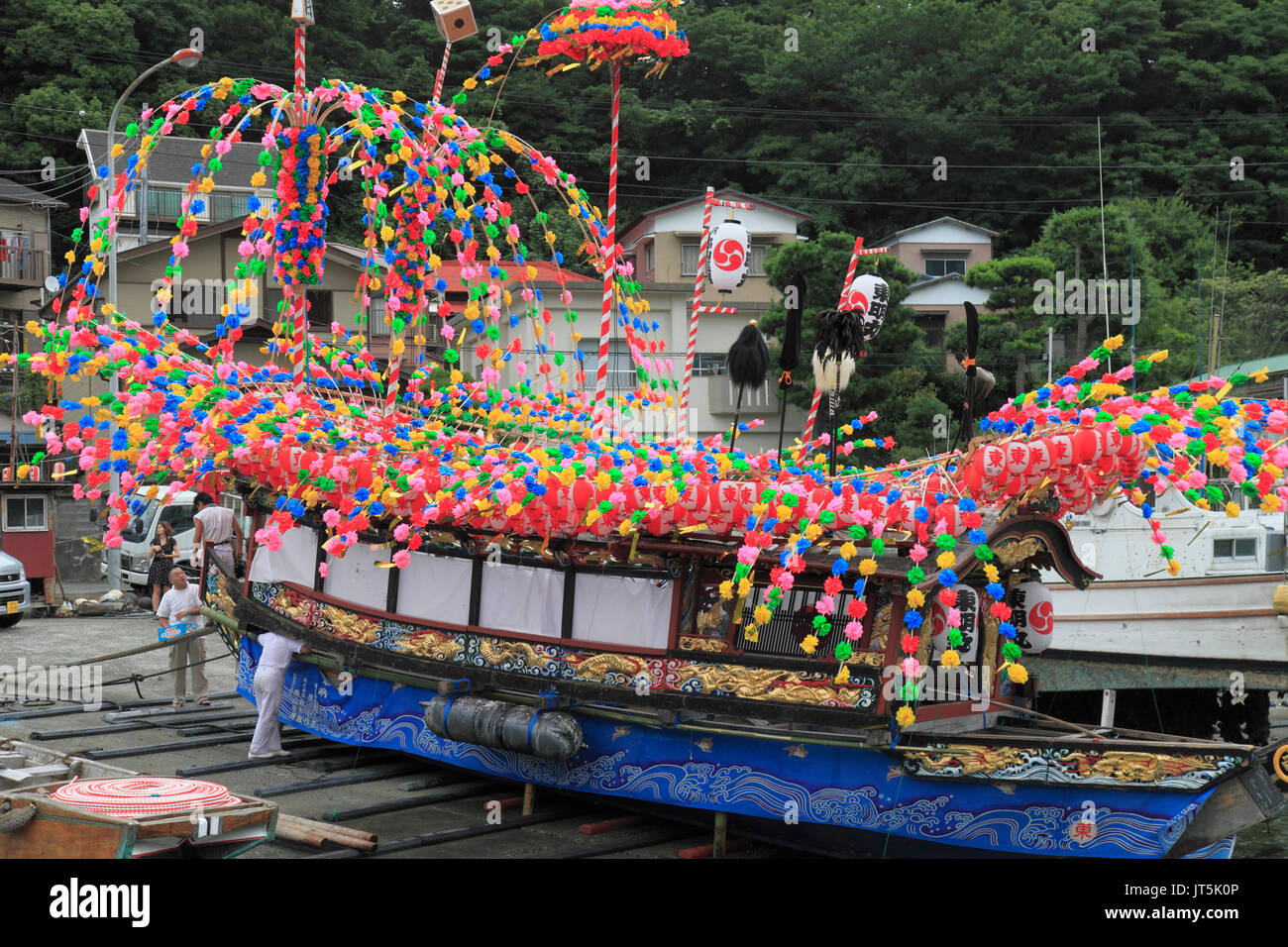 Japan, Manazuru, Kibune Matsuri, festival, boat, - Stock Image