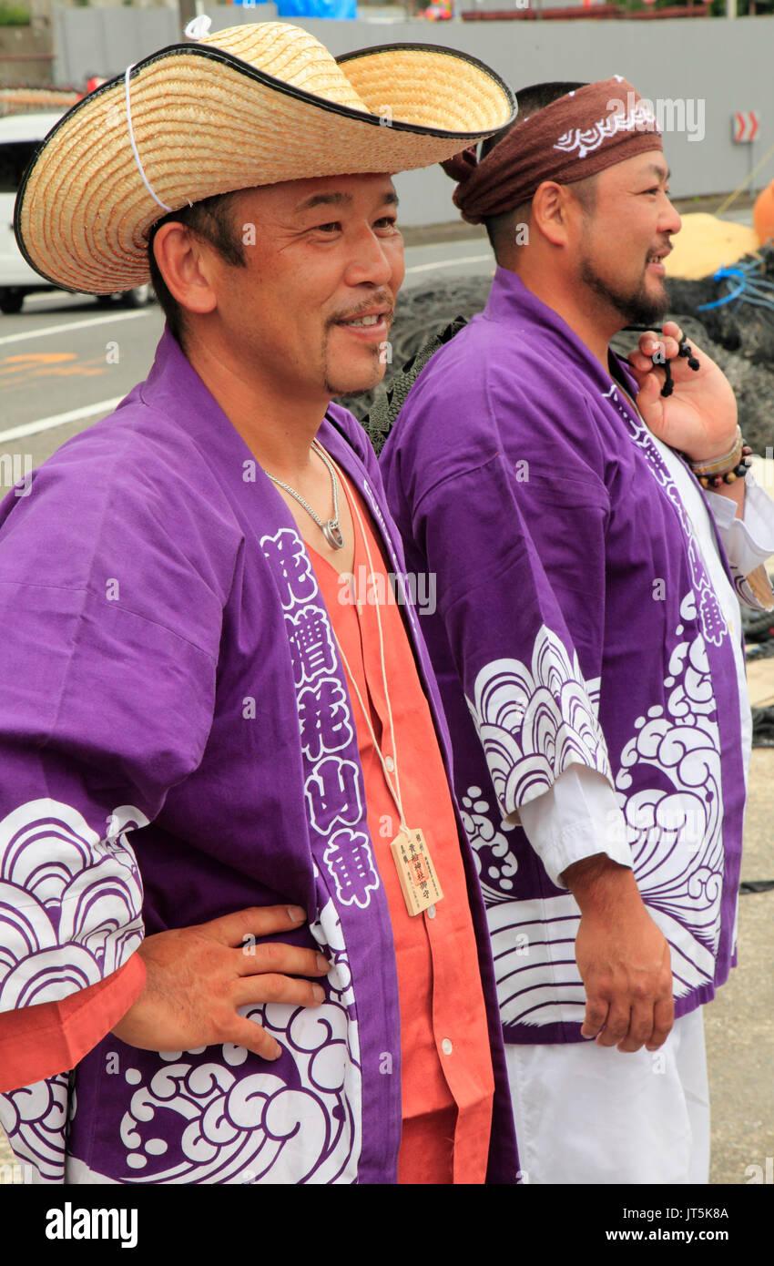 Japan, Manazuru, Kibune Matsuri, festival, men, people, - Stock Image