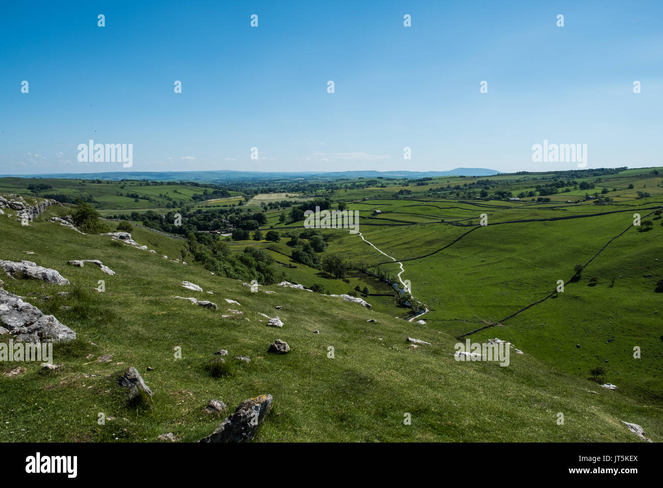 Views of the Landscape Around Malham, Yorkshire Dales, UK. - Stock Image