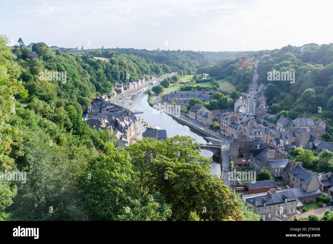 Port Of Dinan Viewed From The Jardin Anglais Or English Garden In