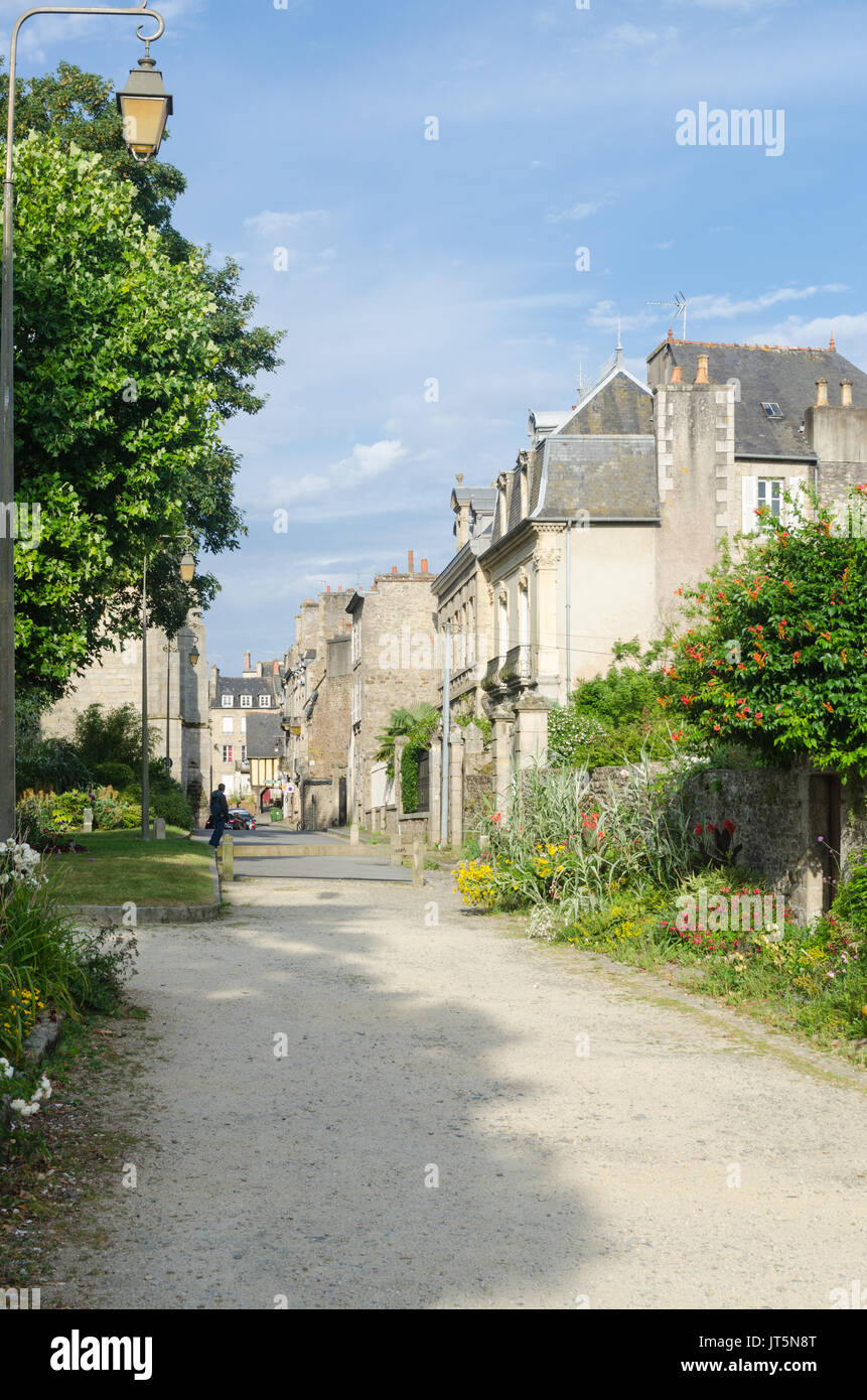 Jardin Anglais In The French Town Of Dinan In Brittany Stock Photo