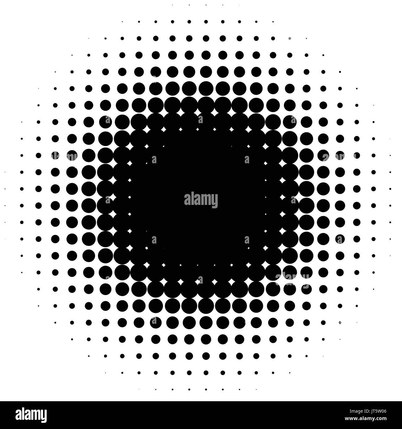 Halftone element, circular halftone pattern. Specks, halftone circle gradient Stock Vector