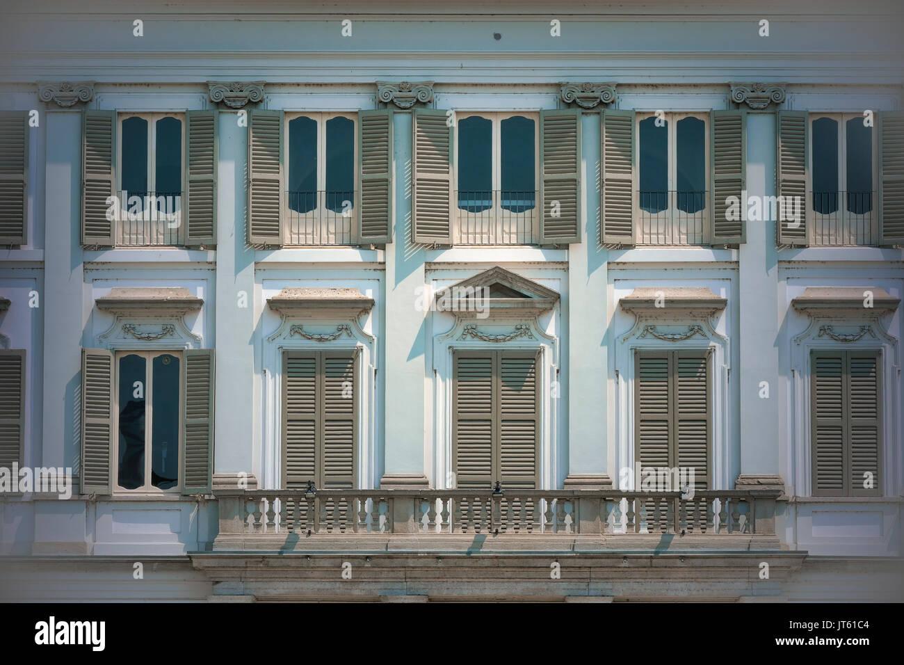 Cassano d'Adda (Milan, Lombardy, Italy): exterior of the historic Villa Borromeo Stock Photo