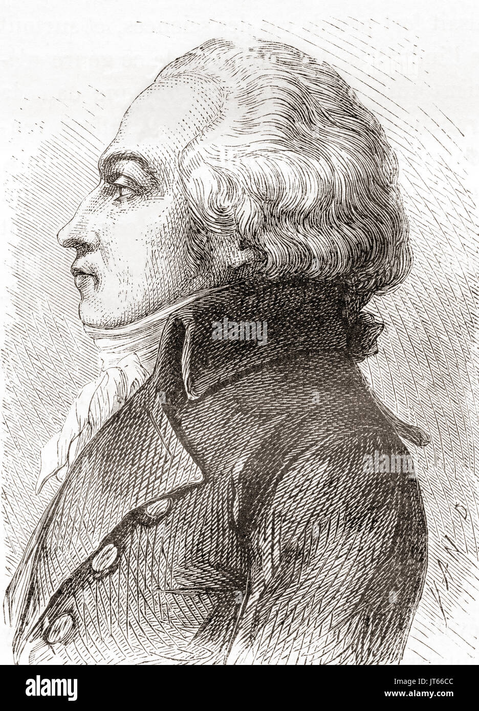 Jacques-Constantin Périer, 1742 -1818.  Self-taught French engineer and businessman.  From Les Merveilles de la Science, published 1870. - Stock Image