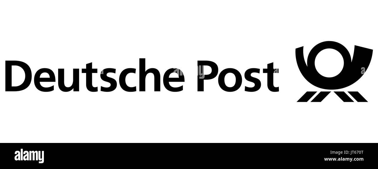 Deutsche Post, company logo, DAX 30 companies - Stock Image