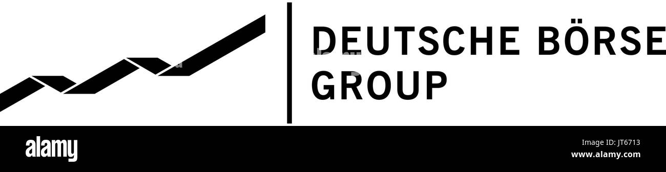 Deutsche Börse, company logo, DAX 30 companies - Stock Image