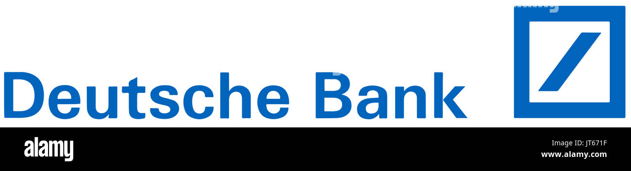 Deutsche Bank, company logo, DAX 30 companies - Stock Image