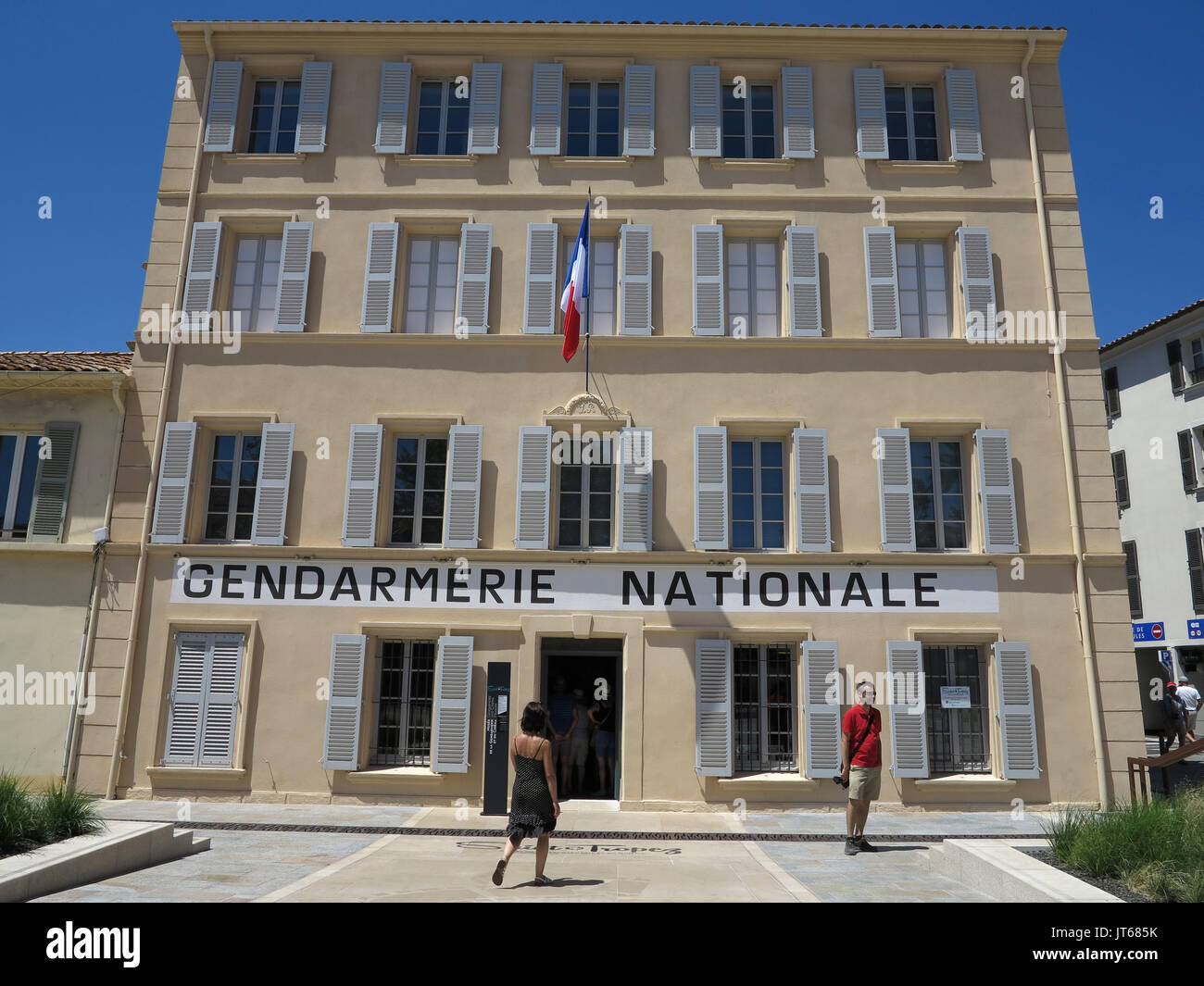 Saint-Tropez (south-eastern France): the famous police station ('gendarmerie') in Place Blanqui, where 'Le - Stock Image