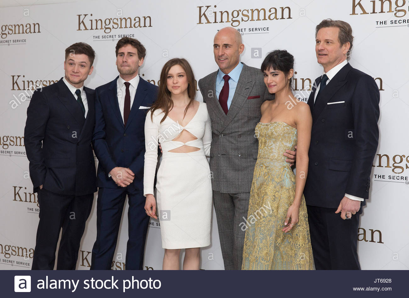 Exclusive Colin Firth Taron Egerton And Sophie Cookson: Colin Firth And Sophie Cookson Stock Photos & Colin Firth