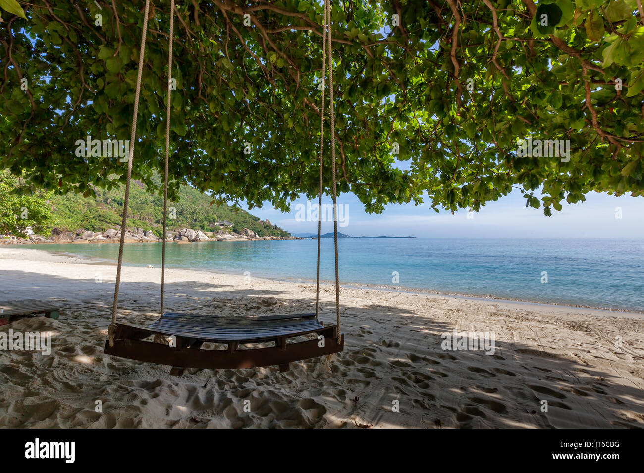 Silver beach, Koh Samui, Thailand - Stock Image