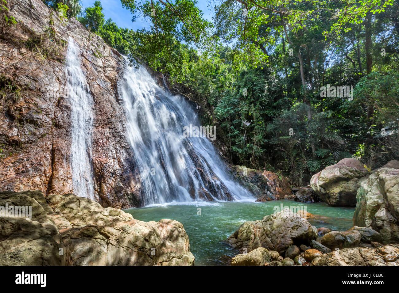 Na Muang or Namuang Waterfall Park, Koh Samui island, Thailand - Stock Image