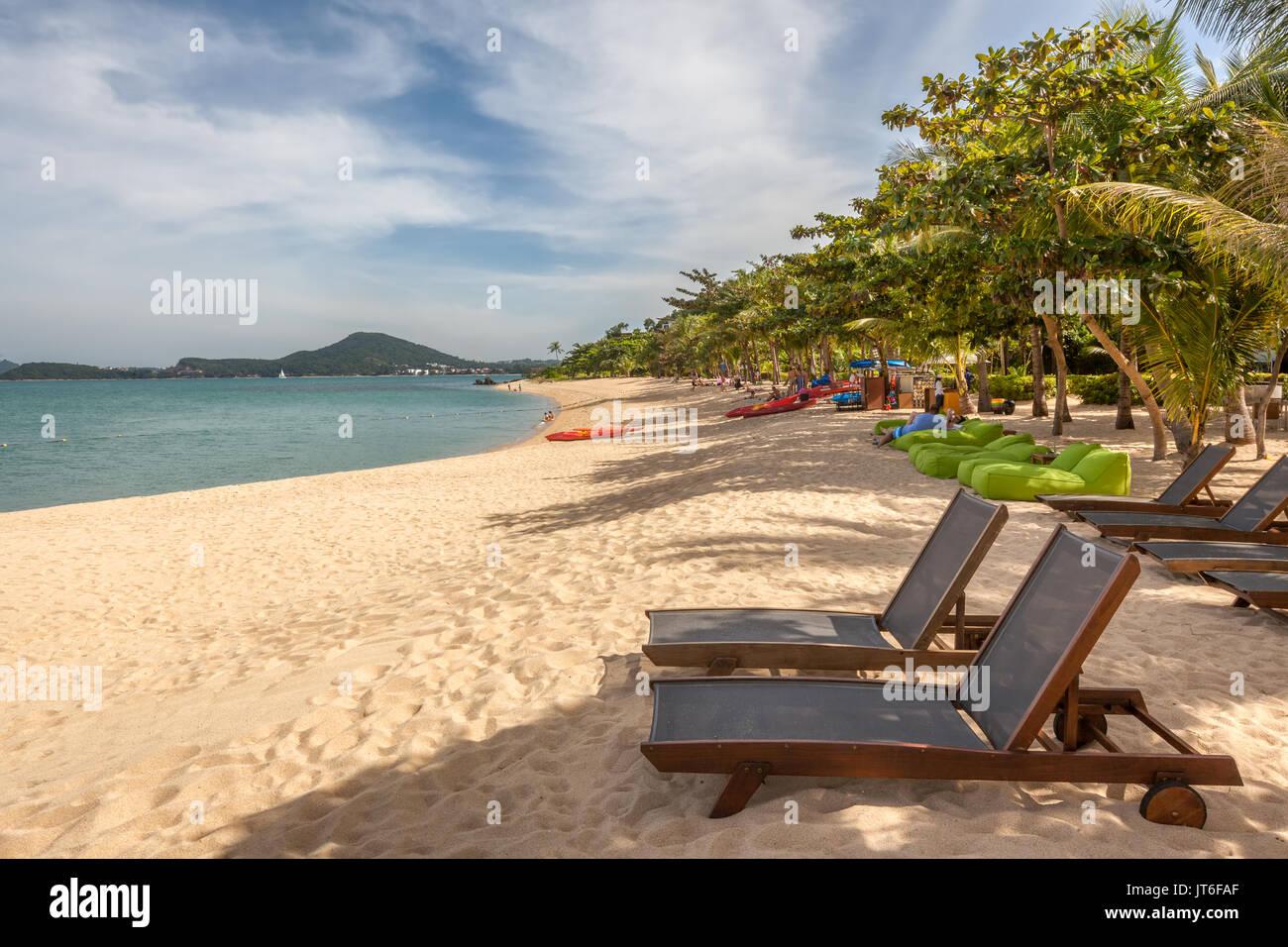 Maenam beach or Ao Menam, Hat Mae Nam, Koh Samui, Thailand - Stock Image