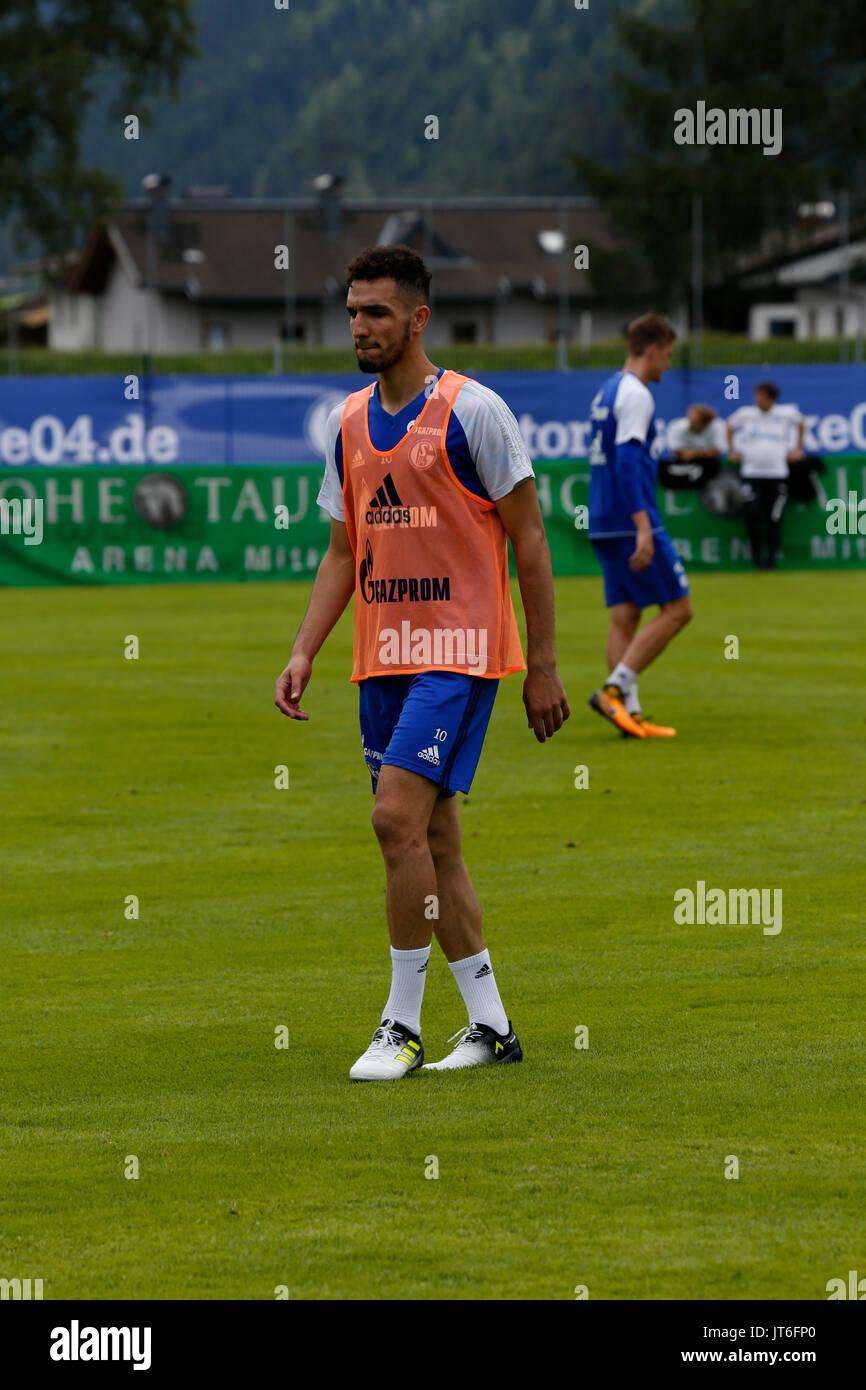 Nabil Bentaleb - 28.07.2017, Soccer camp in Mittersill / Austria - Stock Image