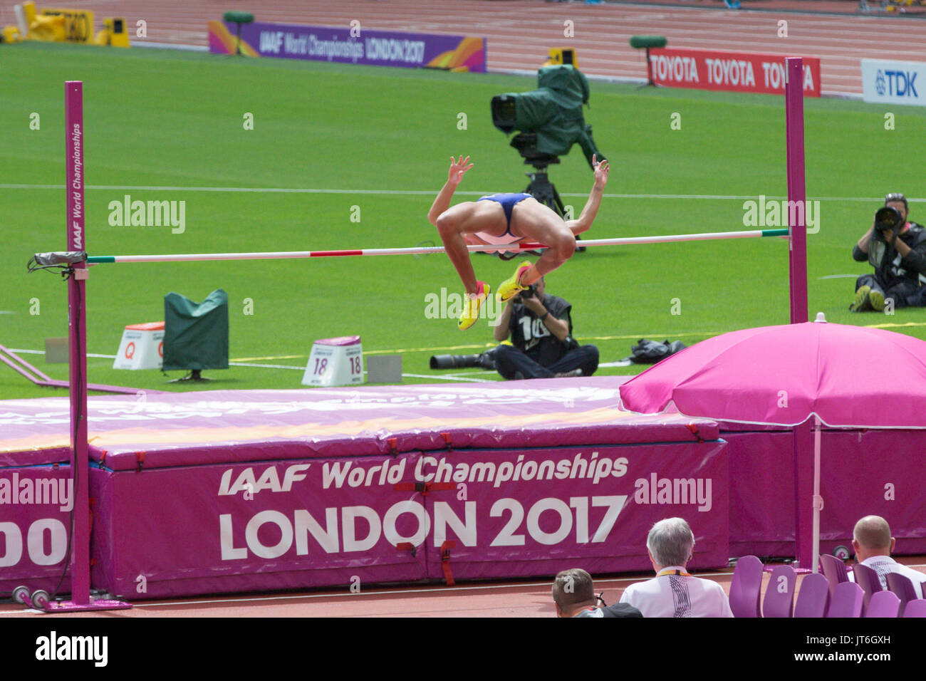 General view of the London Stadium during the IAAF World Athletics Championships Stock Photo