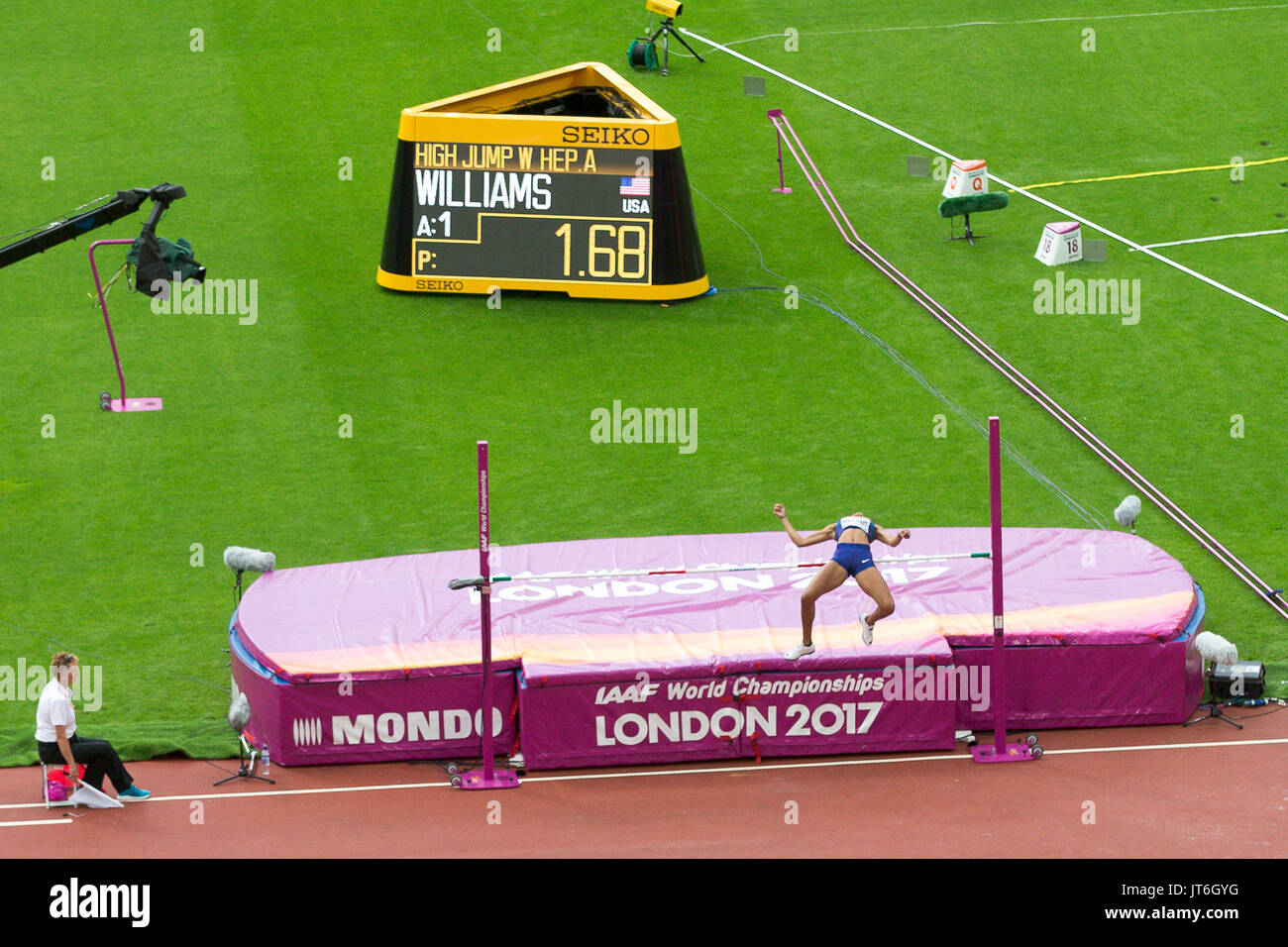 General view of the London Stadium during the IAAF World Athletics Championships - Stock Image