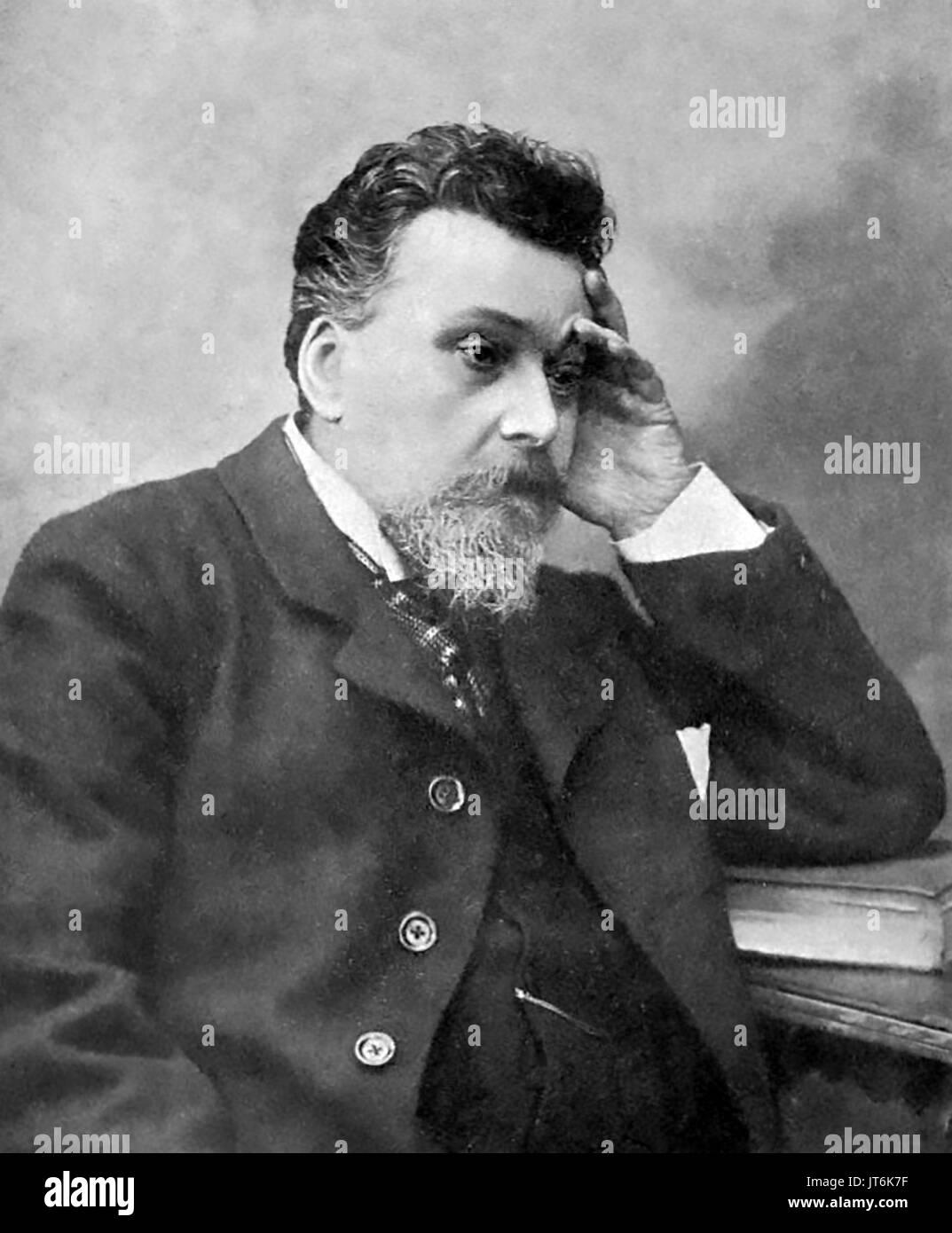 KONSTANTIN STANYOUKOVIC (1843-1903) Russian writer - Stock Image