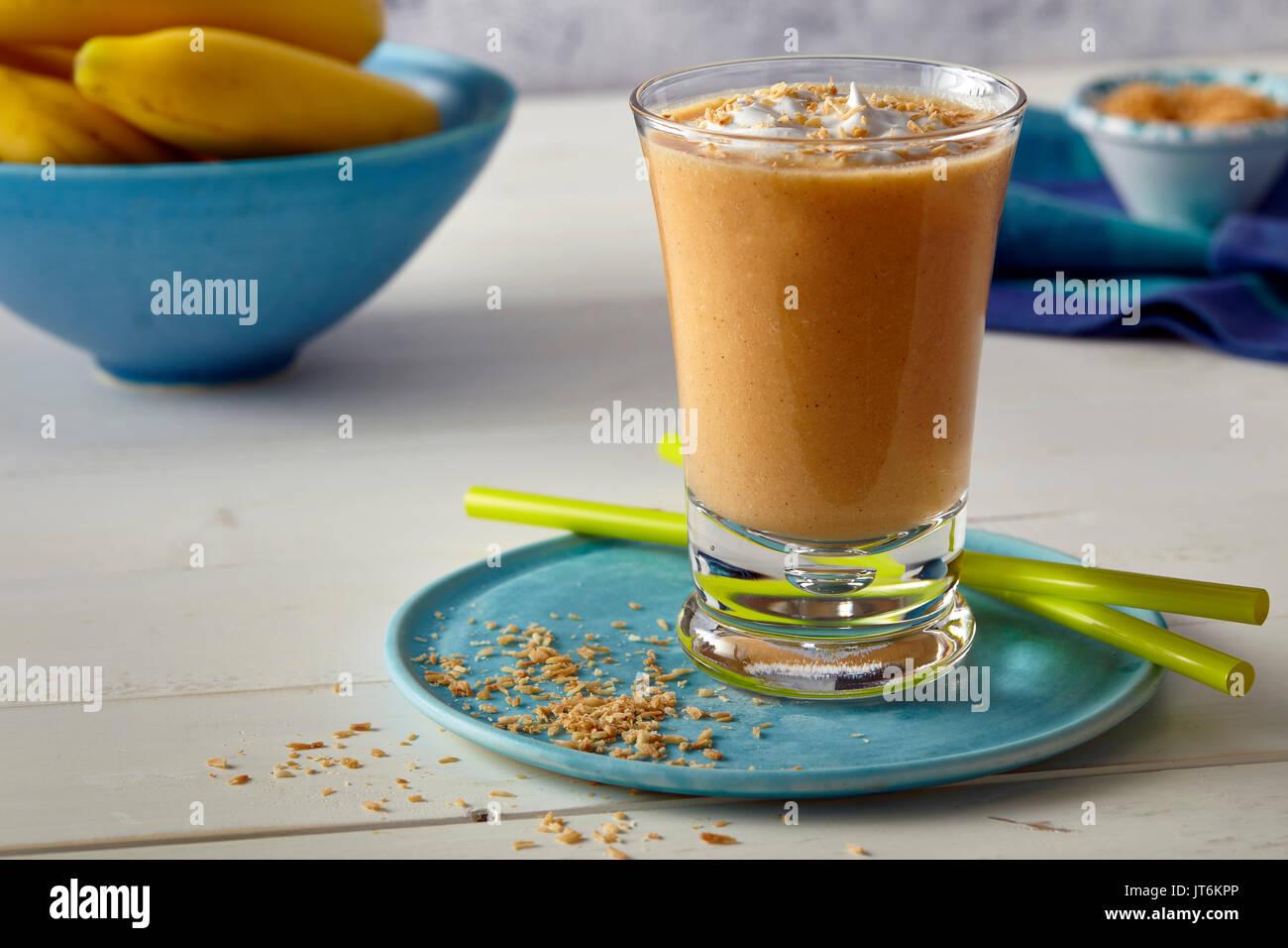 Carrot cake shake - Stock Image