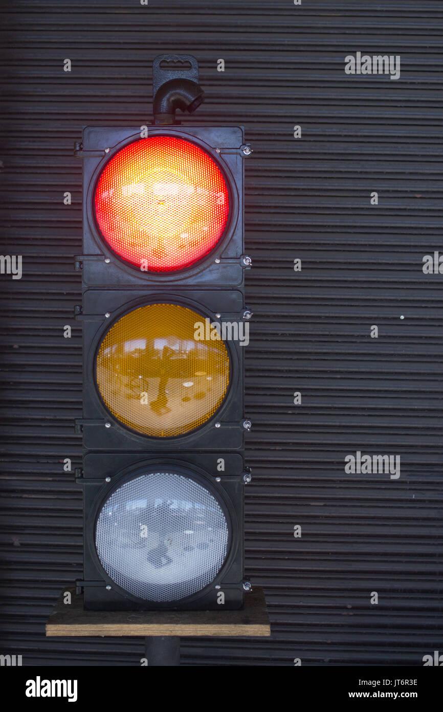 Stoplight - Red Light - Stock Image