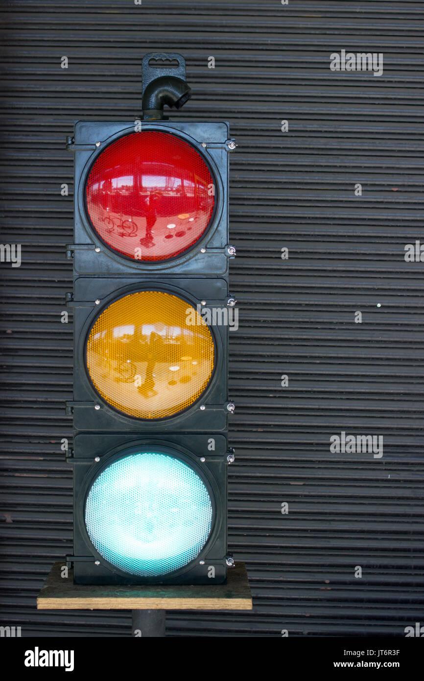 Stoplight - Green Light - Stock Image