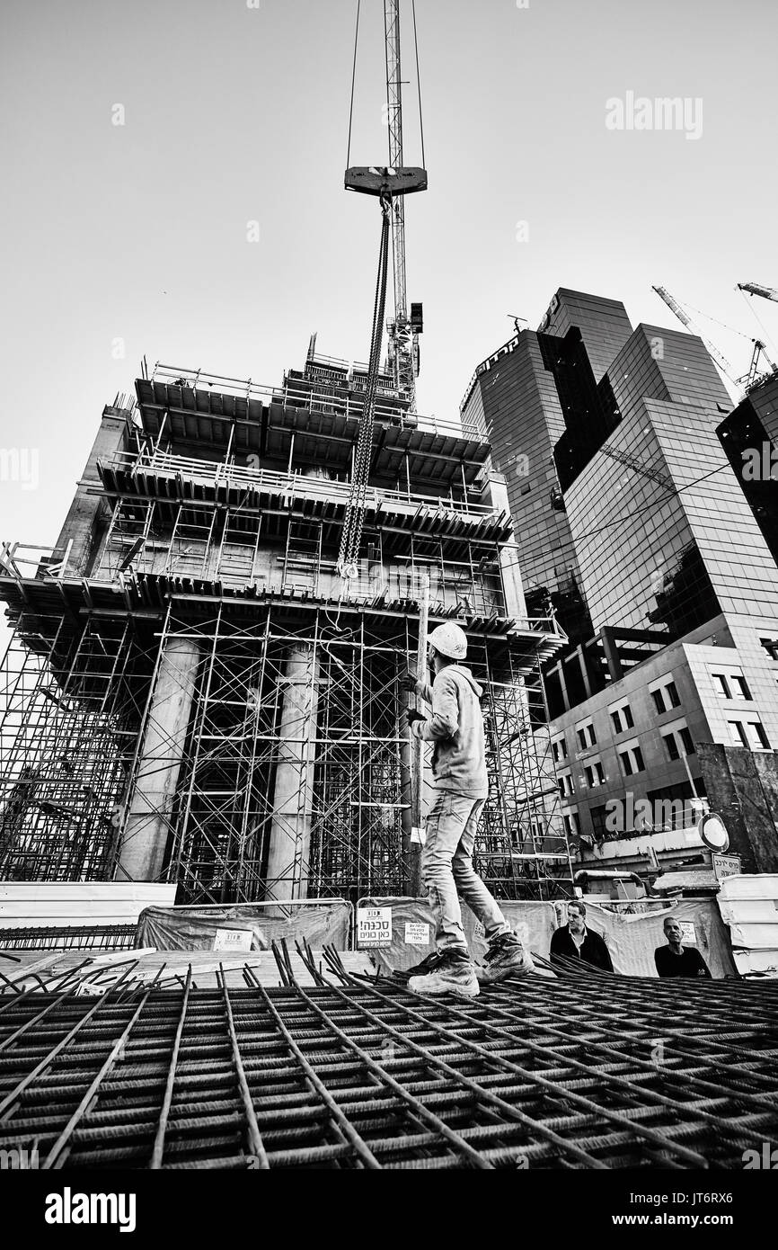 Tower Crane Black And White Stock Photos Images