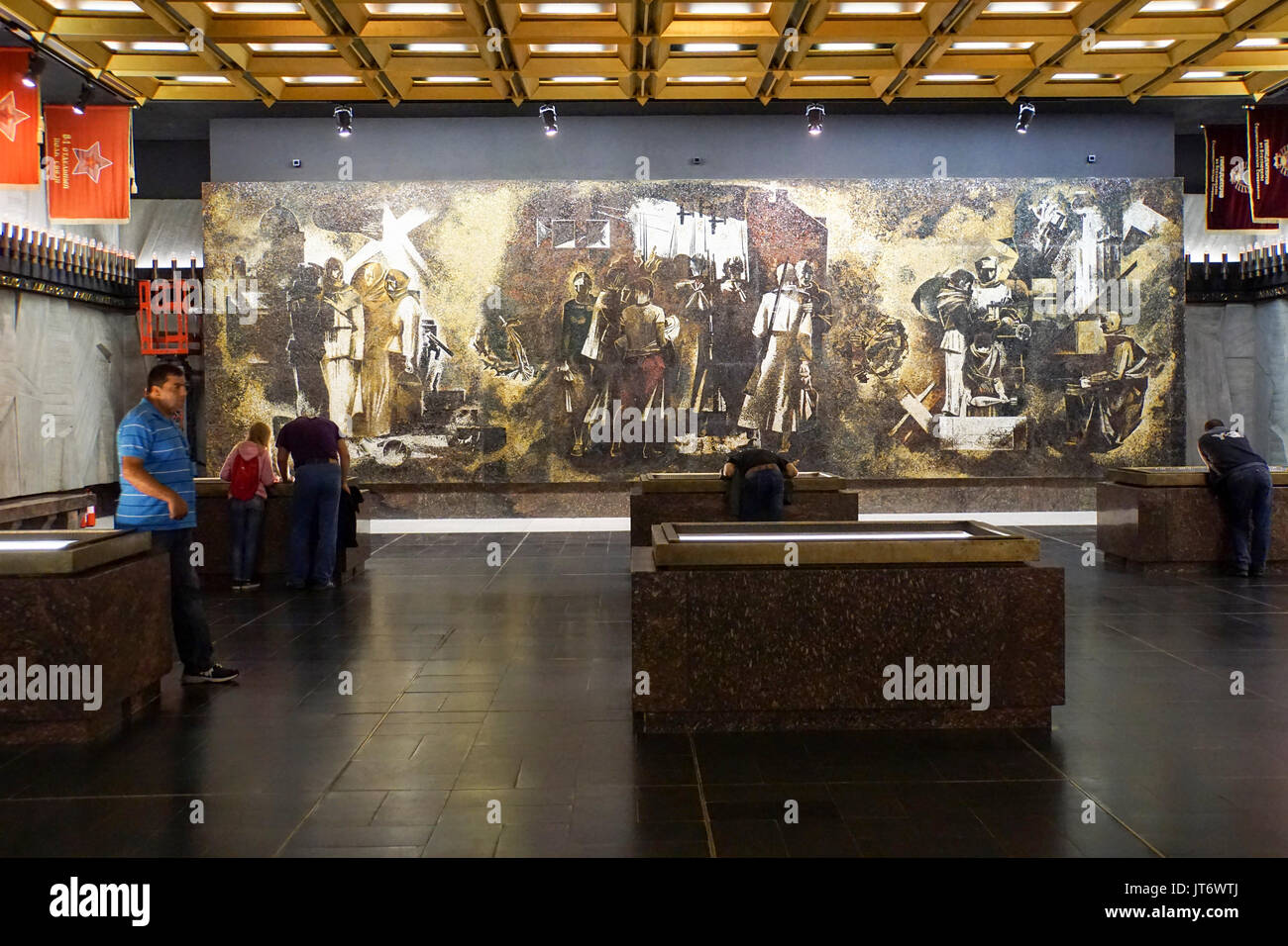 Inside the Monument to the Heroic Defenders of Leningrad at the Victory Square in Saint Petersburg, Russia - Stock Image