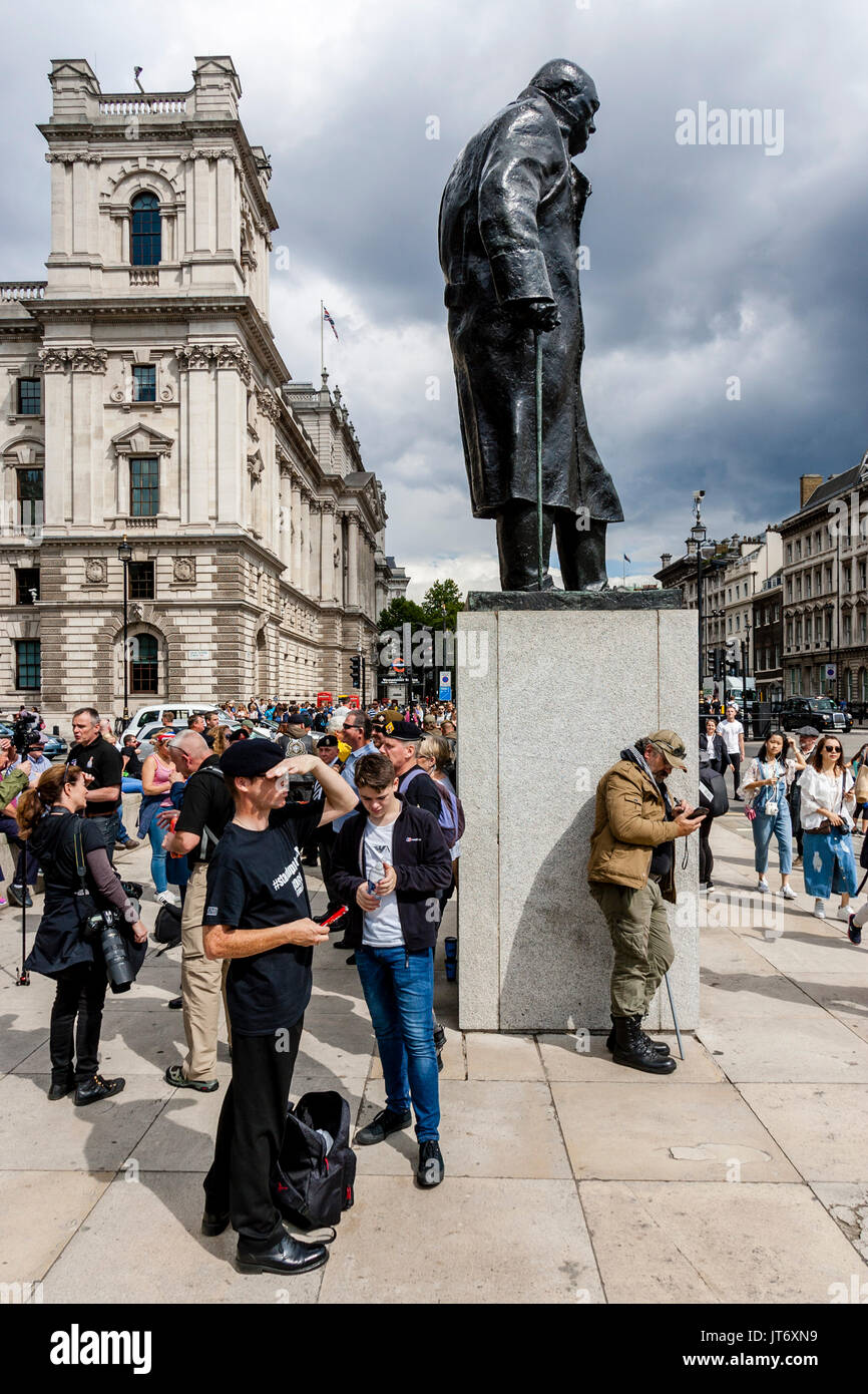 British Army Veterans Gather In Parliament Square Before Taking Part In A March Against Terror, London, UK - Stock Image