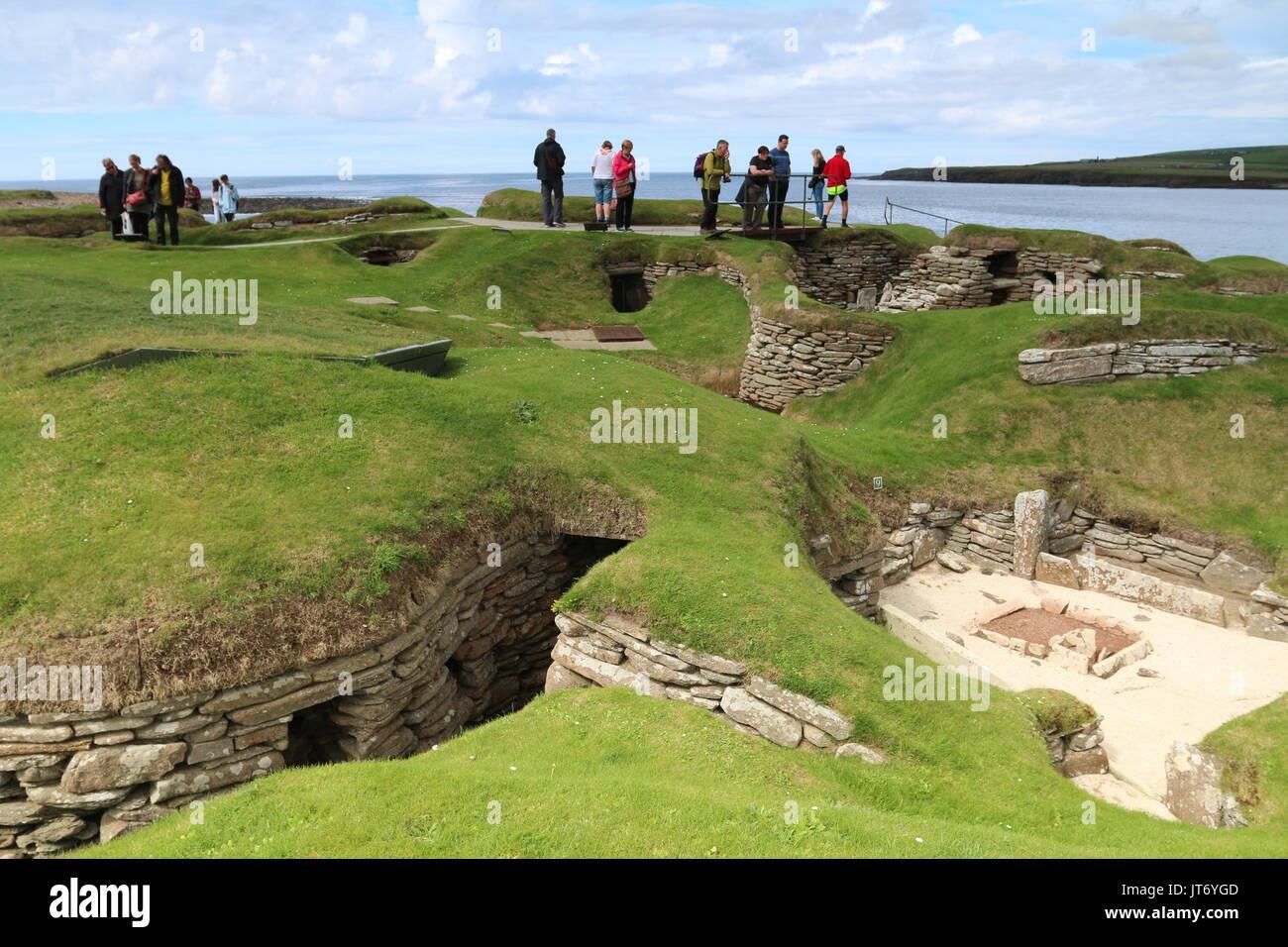 Skara Brae, Neolithic village, Orkney Islands - Stock Image