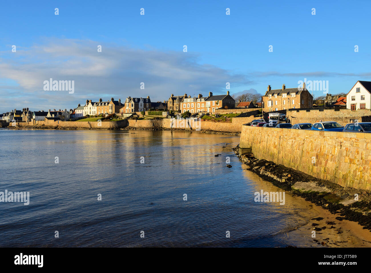 Seafront at Scottish coastal town of Elie in East Neuk of